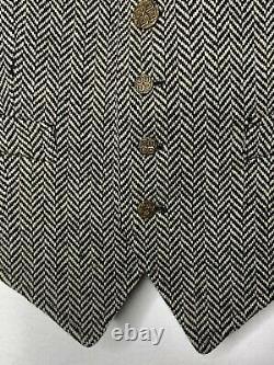 $228 New Rugby Ralph Lauren Small Vest Jacket RRL VTG Herringbone Polo Tweed