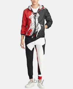 $398 Polo Ralph Lauren Men VTG Big Pony P-Wing Color Blocked Windbreaker Jacket