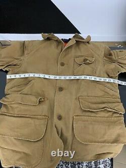 $498 Polo Ralph Lauren Medium Hunting Jacket + Vest RRL VTG Utility Rugby Coat
