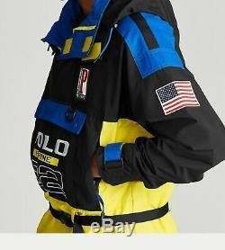 $698 Polo Ralph Lauren Men Vtg US Flag Alpine Skier Ski 92 Color Block Jacket XL