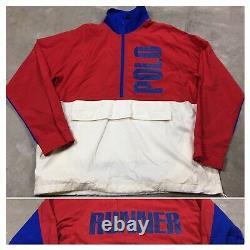 90s VTG POLO RALPH LAUREN STADIUM 1992 Snow Beach Jacket Windbreaker L Olympics