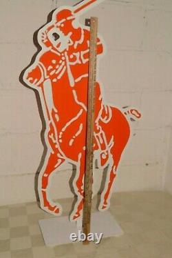 90s Vtg RALPH LAUREN 2-Sided Store Sign ADVERTISING DISPLAY Big 44 POLO JOCKEY