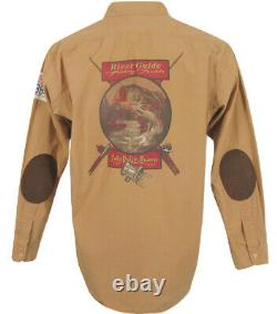 BRAND NEW Polo Ralph Lauren Vintage 90's Shirt! M Huge Fishing Print on Back