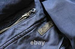 Brilliant Polo Ralph Lauren Navy Blue Hunting Style Jacket Size L Vintage RRL