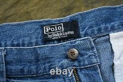 Brilliant Vintage Polo Ralph Lauren Double Pleated Denim Trouser Sz 32 USA Made