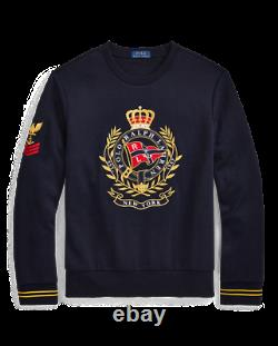 LargePolo Ralph Lauren Crest Sweatshirt Vintage CP93 Hi Tech Ski92 Pwing