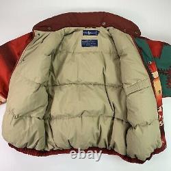 MINT! VNTG Polo Ralph Lauren (S) Navajo Aztec Tribal Southwest Down Puff Jacket