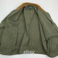 Men's VNTG Ralph Lauren Polo Country (L)Green Duck Canvas Corduroy Collar Jacket