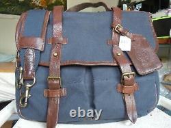 NEW vintage POLO Ralph Lauren Commuter Gentlemans Briefcase Bag Canvas Leather