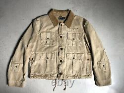 New Polo Ralph Lauren Khaki Hunting Fishing Jacket Coat RRL Safari VTG Rugged XL
