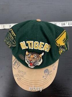 New Polo Ralph Lauren Varsity Green Cap Hat VTG Leather P Wing Tiger Jacket RRL