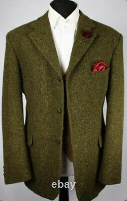 New RRL Ralph Lauren 38R Green Tweed Blazer Jacket Herringbone Hacking Polo VTG