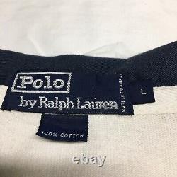 OG Vtg 90s Polo Ralph Lauren CP93 Colorblock Rugby Shirt Mens Large Hi Tech 92