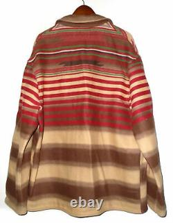 POLO COUNTRY by RALPH LAUREN Blanket Jacket VTG Aztec Navajo Wool USA Mens LG