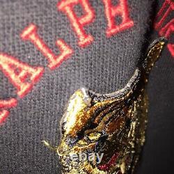 POLO RALPH LAUREN Vintage Varsity Long Sleeve Jacket Tiger Patch XXL 2XL Sport