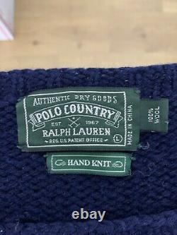 Polo Country Ralph Lauren Large Moose Sweater RRL VTG Duck Hunting Cowboy Rodeo