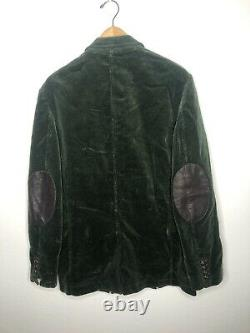 Polo Ralph Lauren 38R Green Corduroy Blazer Jacket RRL VTG Leather Rugby Hunting
