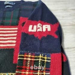 Polo Ralph Lauren 911 Tribute Sweater Vintage Rare Men XL Hand Knit 2002