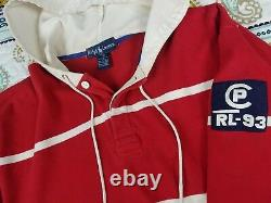 Polo Ralph Lauren CP RL 93 Vintage Hoodie Rugby Shirt Mens Sz Small 1993 OG 90s