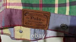 Polo Ralph Lauren Country Multicolor Madras Plaid Worker Trucker Jacket Vintage