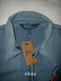 Polo Ralph Lauren Cross Flags Anniversary Denim Jacket XL Retro Not Vintage