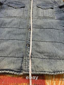 Polo Ralph Lauren Denim Indian Lined Jacket VTG RRL Aztec Navajo Patchwork Shirt