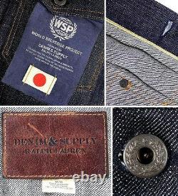 Polo Ralph Lauren Denim & Supply Raw Rigid Japanese Selvedge Jeans Jacket Ltd Ed