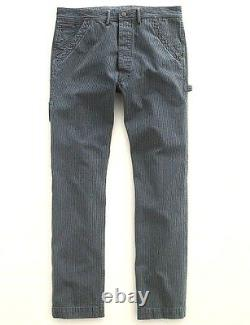 Polo Ralph Lauren Double Rl Rrl Stripe Buckleback Carpenter Pants Chinos $390+