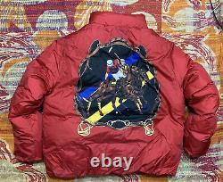 Polo Ralph Lauren Down Jacket Equestrian Patchwork Stadium VTG Mercer RRL Club