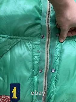 Polo Ralph Lauren Down Ski Vest Jacket Patchwork Rare Hi Tech 92 Stadium VTG RRL