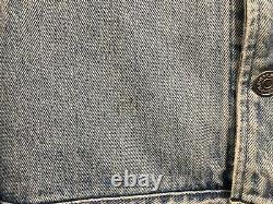 Polo Ralph Lauren Dungarees Adult XL Bear Denim Jean Jacket Vintage