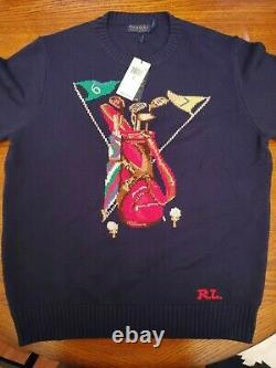 Polo Ralph Lauren Knit Sweater Golf Bag Large Bear Pwing