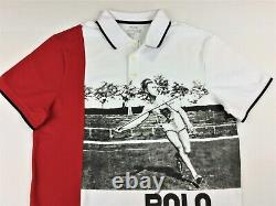 Polo Ralph Lauren Men P Wing Vintage VTG Javelin Stadium 92 Mesh Polo Shirt