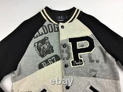 Polo Ralph Lauren Men VTG Bulldog P-Wing NYC Patchwork Varsity Baseball Jacket M