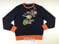 Polo Ralph Lauren Men Vintage Graphic Patch R. L Wolves Wolf Pullover Sweatshirt