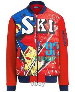 Polo Ralph Lauren Men Vintage Ski 92 Downhill Hybrid Puffer Down Jacket Suicide