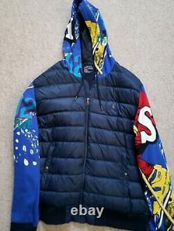 Polo Ralph Lauren Men Vtg Retro 1992 Downhill Skier Ski 92 Down Jacket Suicide
