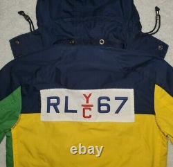 Polo Ralph Lauren RLYC Colorblock Yatch Jacket CP 92 93 stadium pwing vtg M
