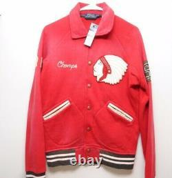 Polo Ralph Lauren Red Vintage Varsity Jacket Coat size S