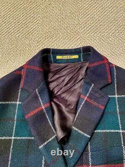Polo Ralph Lauren Rugby Holiday Tartan Plaid Sport Coat Mens S vintage rare