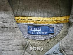 Polo Ralph Lauren Shawl Cardigan Sweater Military USA Expedition RARE Vintage M