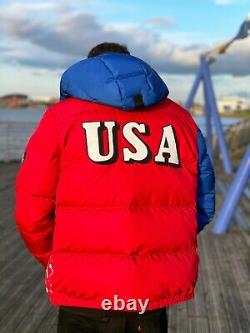 Polo Ralph Lauren Ski 92 Suicide Down Puffer Jacket / Coat Downhill Large L