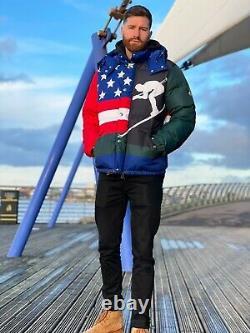 Polo Ralph Lauren Ski 92 Suicide Down Puffer Jacket / Coat Downhill Medium M
