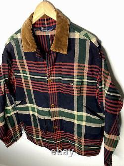 Polo Ralph Lauren Small Buffalo Plaid Red Jacket RRL VTG Hunting Barn Chore Coat