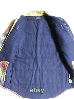 Polo Ralph Lauren Small Shirt Jacket Aztec Indian Hunting Thick VTG RRL Serape