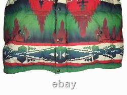 Polo Ralph Lauren Southwestern Aztec Ripstop Coat Large NWT Stadium Bear Vintage