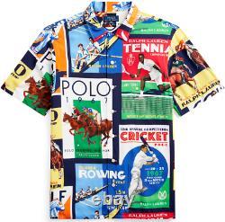 Polo Ralph Lauren VTG 1967 Chariots Olympic Stadium Royal King Shirt Hi Tech USA