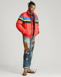 Polo Ralph Lauren VTG Cookie Patch Down Jacket Hi Tech Snow Beach Ski 92 Bear