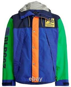 Polo Ralph Lauren Vtg Retro P 93 RLPC67 Colorblocked Hoodie Jacket Hi Tech CP 93