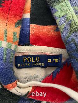 Polo Ralph Lauren X-Large Sweater Hoodie RRL Southwestern Aztec Beacon Yacht VTg